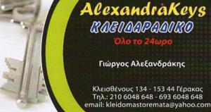 ALEXANDRAKEYS ΚΛΕΙΔΟΜΑΣΤΟΡΕΜΑΤΑ