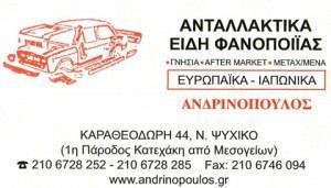 ΑΝΔΡΙΝΟΠΟΥΛΟΣ ΝΙΚΟΛΑΟΣ