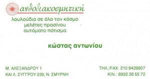 ΑΝΤΩΝΙΟΥ ΚΩΣΤΑΝΤΙΝΟΣ