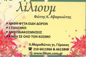 LILIUM (ΑΒΑΡΚΙΩΤΗΣ ΦΩΤΗΣ)