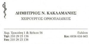 ΚΑΚΛΑΜΑΝΗΣ ΔΗΜΗΤΡΙΟΣ