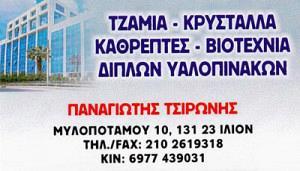 ΤΣΙΡΩΝΗΣ ΠΑΝΑΓΙΩΤΗΣ