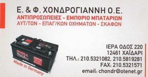 ΧΟΝΔΡΟΓΙΑΝΝΗ Ε & Φ ΟΕ