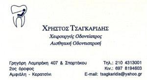 ΤΣΑΓΚΑΡΙΔΗΣ ΧΡΗΣΤΟΣ