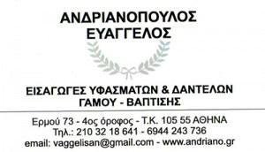 ΑΝΔΡΙΑΝΟΠΟΥΛΟΣ ΕΥΑΓΓΕΛΟΣ