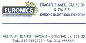 ΣΕΗΟΣ EURONICS (ΣΠΑΘΑΡΗΣ ΒΑΣΙΛΕΙΟΣ Α & ΣΙΑ)