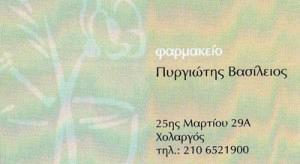 ΠΥΡΓΙΩΤΗΣ ΒΑΣΙΛΕΙΟΣ