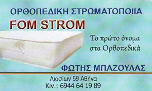 FOM STROM (ΜΠΑΖΟΥΛΑΣ ΦΩΤΙΟΣ)