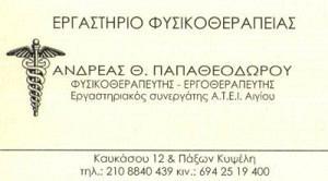 ΠΑΠΑΘΕΟΔΩΡΟΥ ΑΝΔΡΕΑΣ
