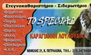ΤΟ SPECIAL (ΚΑΡΑΓΙΑΝΝΗ ΛΟΥΛΟΥΔΙΑ)