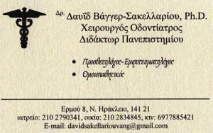 ΒΑΓΓΕΡ ΣΑΚΕΛΛΑΡΙΟΥ ΔΑΥΙΔ
