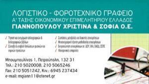ΓΙΑΝΝΟΠΟΥΛΟΥ ΧΡΙΣΤΙΝΑ & ΣΟΦΙΑ ΟΕ