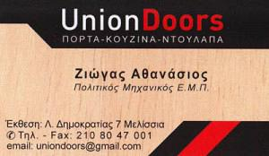 UNION DOORS (ΖΙΩΓΑΣ ΑΘΑΝΑΣΙΟΣ)