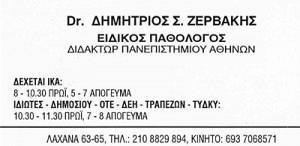 ΖΕΡΒΑΚΗΣ ΔΗΜΗΤΡΙΟΣ