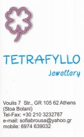 TETRAFYLLO JEWELLERY