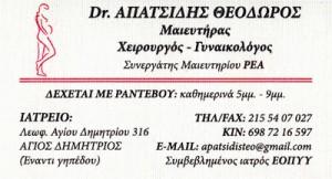 ΑΠΑΤΣΙΔΗΣ ΘΕΟΔΩΡΟΣ