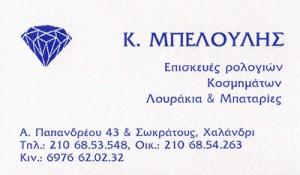 ΜΠΕΛΟΥΛΗΣ (ΜΠΕΛΟΥΛΗΣ ΚΩΝΣΤΑΝΤΙΝΟΣ)