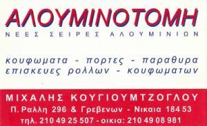 ΑΛΟΥΜΙΝΟΤΟΜΗ (ΚΟΥΓΙΟΥΜΤΖΟΓΛΟΥ ΧΡΗΣΤΟΣ)