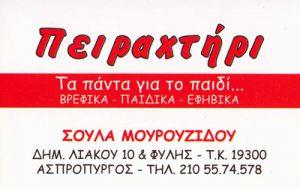 ΠΕΙΡΑΧΤΗΡΙ (ΜΟΥΡΟΥΖΙΔΟΥ ΑΘΑΝΑΣΙΑ)