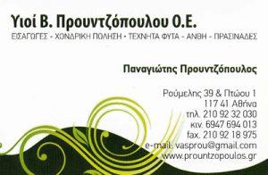 ΥΙΟΙ Β ΠΡΟΥΝΤΖΟΠΟΥΛΟΥ ΟΕ (ΠΡΟΥΝΤΖΟΠΟΥΛΟΣ ΚΩΝΣΤΑΝΤΙΝΟΣ)
