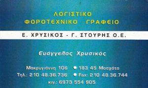 ΧΡΥΣΙΚΟΣ Ε & ΣΤΟΥΡΗΣ Γ ΟΕ
