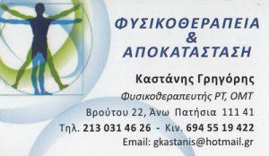 ΚΑΣΤΑΝΗΣ ΓΡΗΓΟΡΙΟΣ